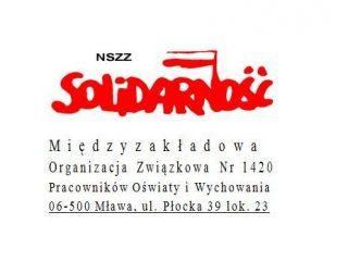 Mławscy związkowcy zajęli stanowisko w sprawie planowanej reformy oświaty
