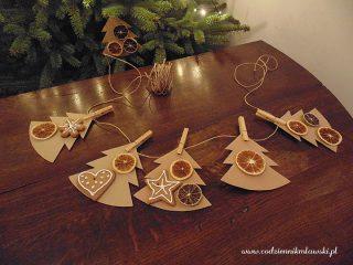 Choinkowa girlanda – prosty pomysł na wyjątkową dekorację
