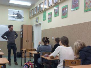 Warsztaty poetyckie z Arturem Nowaczewskim. Gimnazjum nr 2