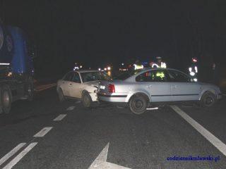 Jedna osoba ranna w wypadku na DK nr 7