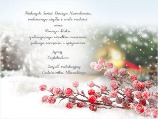 Naszym Czytelnikom życzymy – pięknych i rodzinnych Świąt Bożego Narodzenia