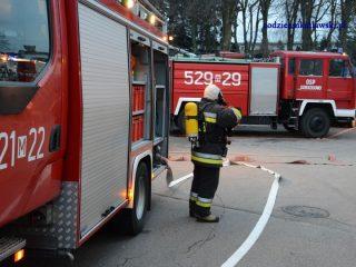 Pożar w miejscowości Wąsosze