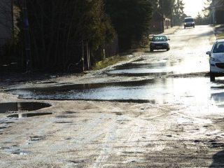 Ulica Górna znów pod wodą