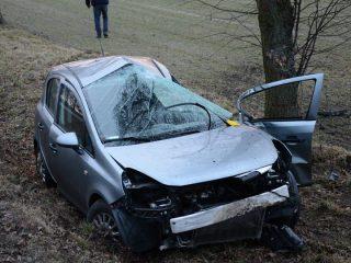 Wypadek koło Purzyc na DW 544