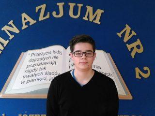 Uczeń Gimnazjum nr 2 finalistą konkursu kuratoryjnego z biologii.