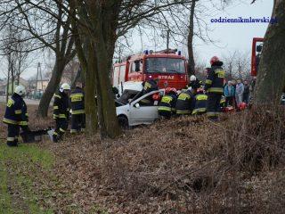 Łomia. Samochód osobowy uderzył w drzewo