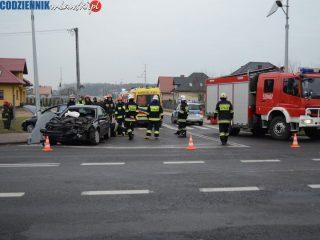 Wypadek w Strzegowie