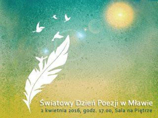 Światowy Dzień Poezji w Mławie