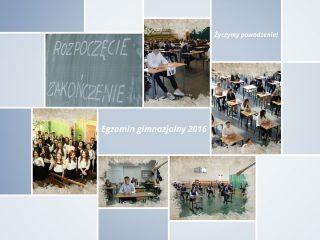 Mławskim gimnazjalistom życzymy dobrych wyników egzaminu