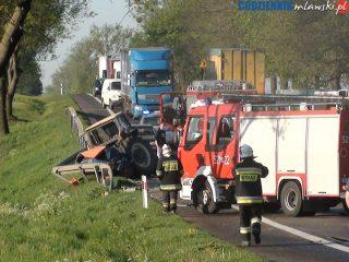 """Wypadek na """"siódemce"""" koło Wiśniewa"""