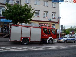Pożar instalacji elektrycznej w bloku przy ulicy Warszawskiej