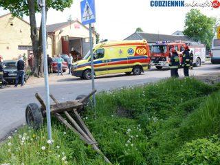 Wypadek w Rzęgnowie. Jedna osoba trafiła do szpitala