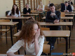 Mława. Egzaminy maturalne rozpoczęte