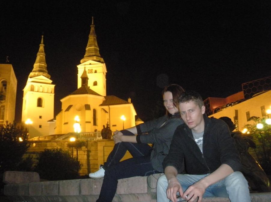 Studenci elektroniki na praktyce na Słowacji