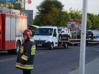 Mława. Kolizja trzech aut na ulicy Grzebskiego