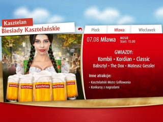 7 sierpnia – Biesiada Kasztelańska. Koncert zespołu Kombii