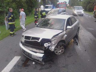 Zderzenie dwóch aut osobowych w Żurominku