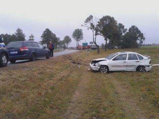 Wypadek koło Kuklina