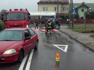 Płonący volkswagen na Kościelnej