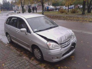 Trzy rozbite auta w Strzegowie