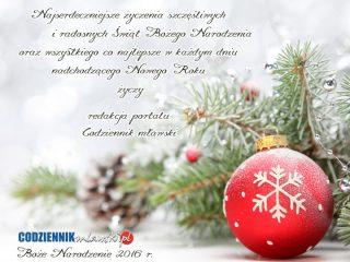 Naszym Czytelnikom życzymy szczęśliwych i radosnych Świąt!
