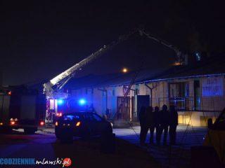 Pożar sklepu meblowego na Brukowej