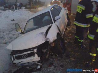 Wypadek w Szydłówku