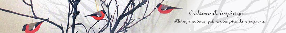 ptaszki z papieru codziennik inspiruje zima