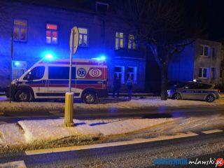 Mława. Strażacy opatrzyli zranionego nożem mężczyznę