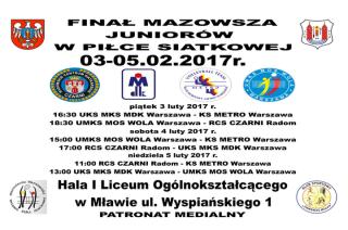 Finał Mazowsza w piłce siatkowej juniorów w hali I LO