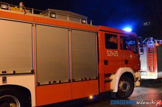 O północy strażacy otwierali drzwi jednego z mieszkań w bloku na Chrobrego