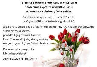 Uroczyste obchody Dnia Kobiet w Wiśniewie