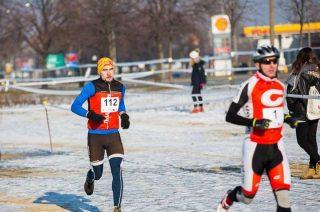 Łachut szósty na zimowym triathlonie. Drugi w kategorii