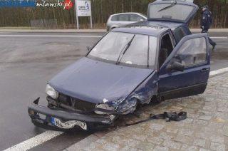 Volkswagenem w Forda. Zderzenie koło Nosarzewa