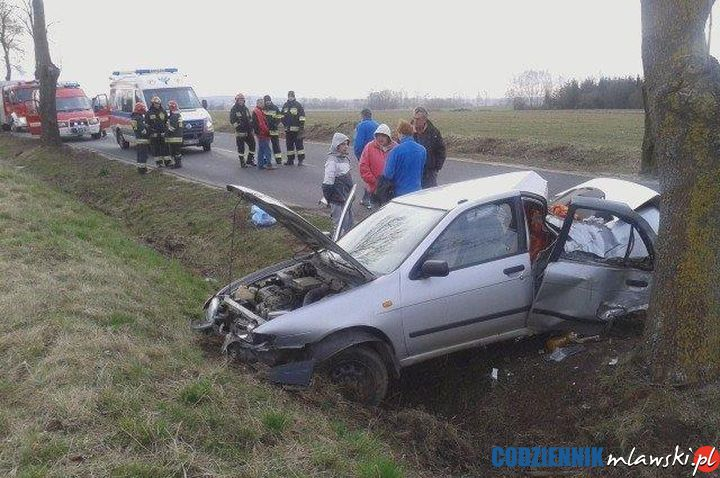 Wypadek w Szreńsku. Trzy osoby ranne