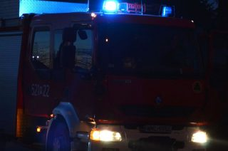 Pożar budynku gospodarczego w Łomi