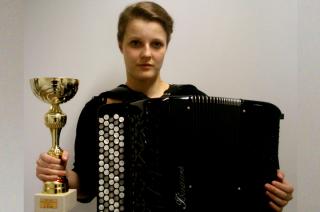 Drugie miejsce Ingi Piwowarskiej w konkursie akordeonowym w Wiedniu