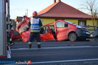 AKTUALIZACJA. Tragedia na drodze koło Pawłowa. Pięć osób nie żyje, cztery są ranne