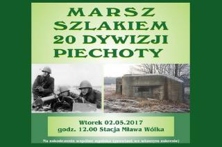 """2 maja marsz """"Szlakiem 20 Dywizji Piechoty"""""""