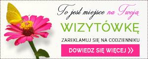 wizytówka reklama na codzienniku