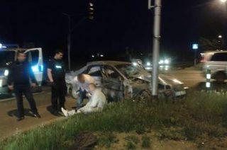 TIR uderzył w osobowe Volvo. Dwie osoby trafiły do szpitala