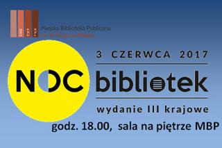 3 czerwca. Zaproszenie na Noc bibliotek