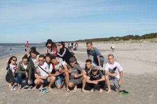 Wydmy, fale i foki. Uczniowie Gimnazjum nr 1 nad morzem