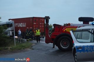 """Wypadek na wiadukcie w Modle. Krajowa """"siódemka"""" zablokowana"""