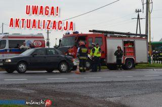 """AKTUALIZACJA: Zderzenie dwóch aut na """"siódemce"""" w Wiśniewie"""