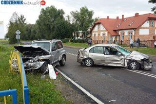 Zderzenie dwóch samochodów na ul. Piłsudskiego. Aktualizacja