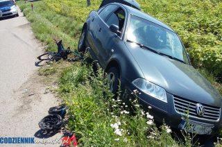 Wypadek z udziałem rowerzysty i nietrzeźwi kierujący. Policja apeluje o rozwagę.