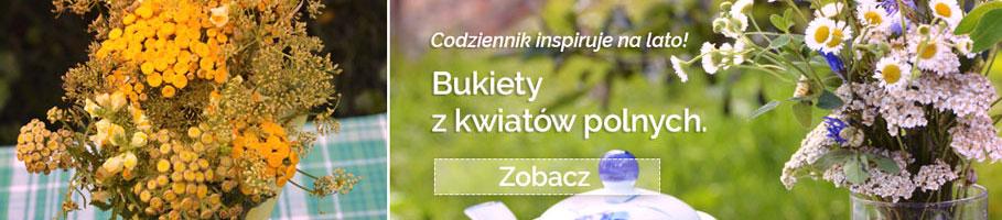 codziennik inspiruje wakacyjne obrazki znad morza bukiety z kwiatów polnych