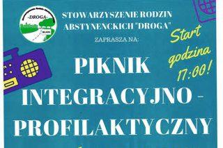 30 lipca. Piknik Integracyjno-Profilaktyczny w parku miejskim
