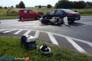 AKTUALIZACJA: Wypadek z udziałem motocyklisty. Podsumowanie wakacyjnego weekendu